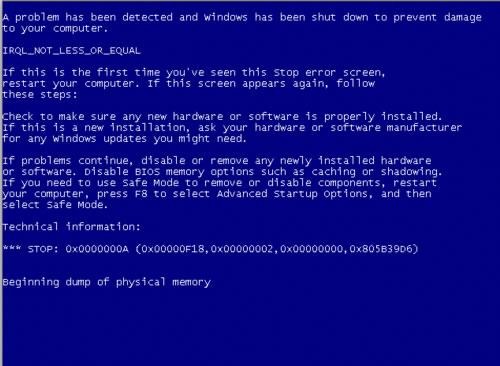 Soluciones Error Pantallazo Azul